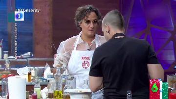 El mal rato de Josie al intentar seguir la receta de Dabiz Muñoz en la final de Masterchef