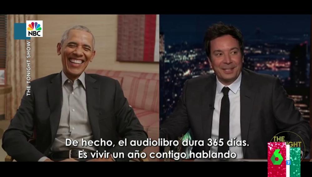 """La reacción de Dani Mateo al ver la entrevista viral de Obama con Jimmy Fallon: """""""