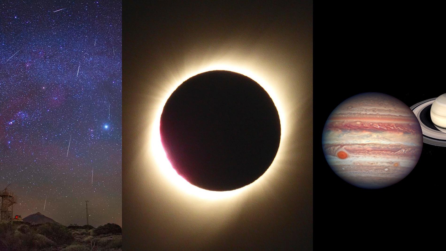 Un diciembre con geminidas eclipse solar y superconjuncion de planetas