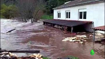 Imagen de inundaciones en Asturias