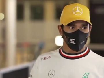 La reacción de Lewis Hamilton al escuchar el R25 de Fernando Alonso: su cara lo dice todo