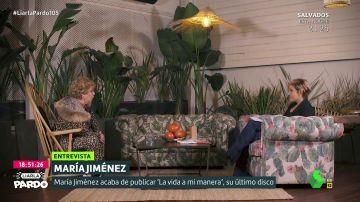 María Jiménez con Cristina Pardo