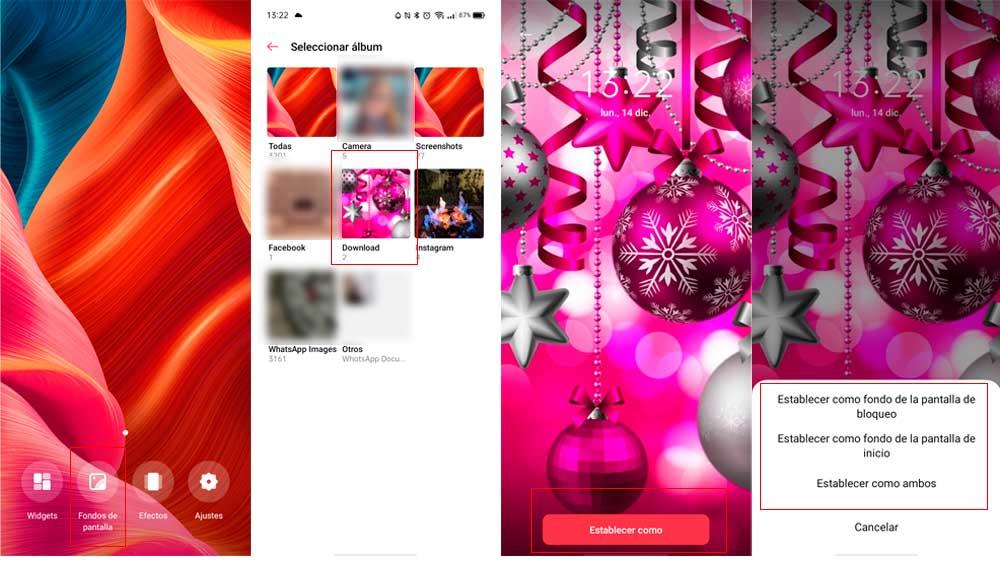 Descarga las postales navideñas y úsalas de fondo de pantalla