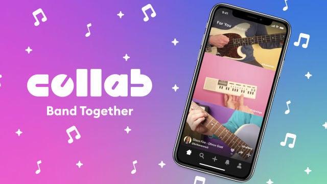 Collab Band together, la nueva app de Facebook.