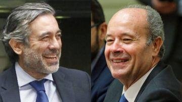 A la izquierda, el responsable de Justicia del PP, Enrique López. A la derecha, el ministro de Justicia, el socialista Juan Carlos Campo.