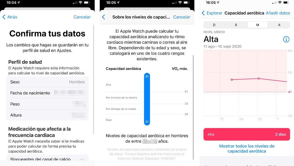 Monitorización de la capacidad aeróbica con un iPhone.