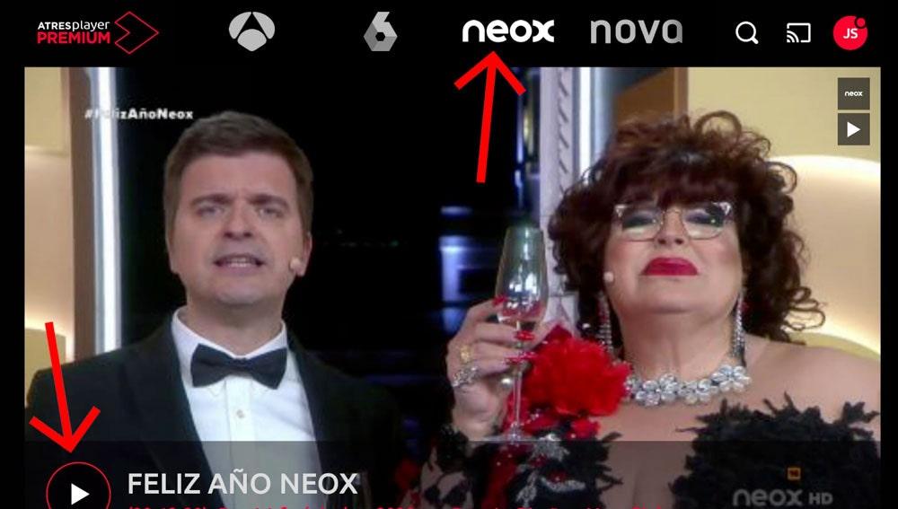 Las campanadas del 30 de diciembre con Neox.