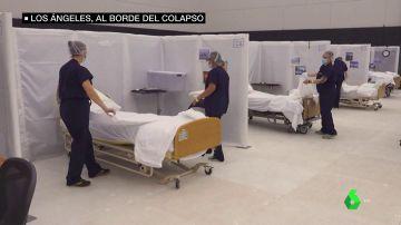 """Los hospitales de Los Ángeles se colapsan por el COVID y dejan de atender """"pacientes insalvables"""""""