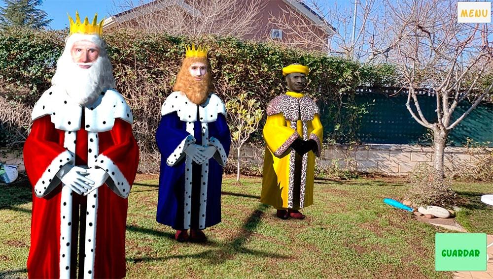 Los Reyes Magos en realidad aumentada