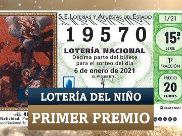 19570, primer premio del Sorteo del Niño 2021