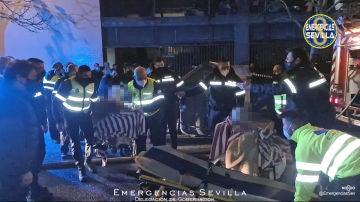 Incendio en una residencia de Sevilla
