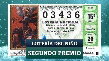 Segundo premio de Lotería del Niño