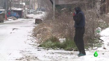 Madrid ofrece realojar a cientos de personas de la Cañada Real en albergues improvisados ante las nevadas