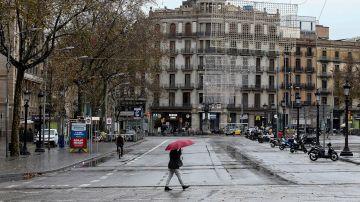 Imagen de archivo de la Plaza de Cataluña de Barcelona