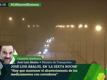 """Ábalos: """"El temporal ha sido tremendo, hay 20.000 kilómetros de carreteras afectadas"""""""