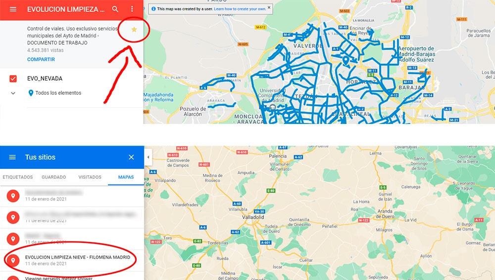 Añadiendo a favoritos el mapa