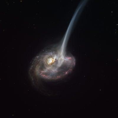 Muerte de una galaxia por una colosal eyeccion de gas