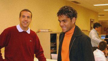 Cristóbal Soria y Dani Alves