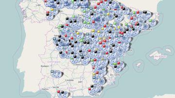 Este es el estado de las carreteras según los últimos datos de la DGT