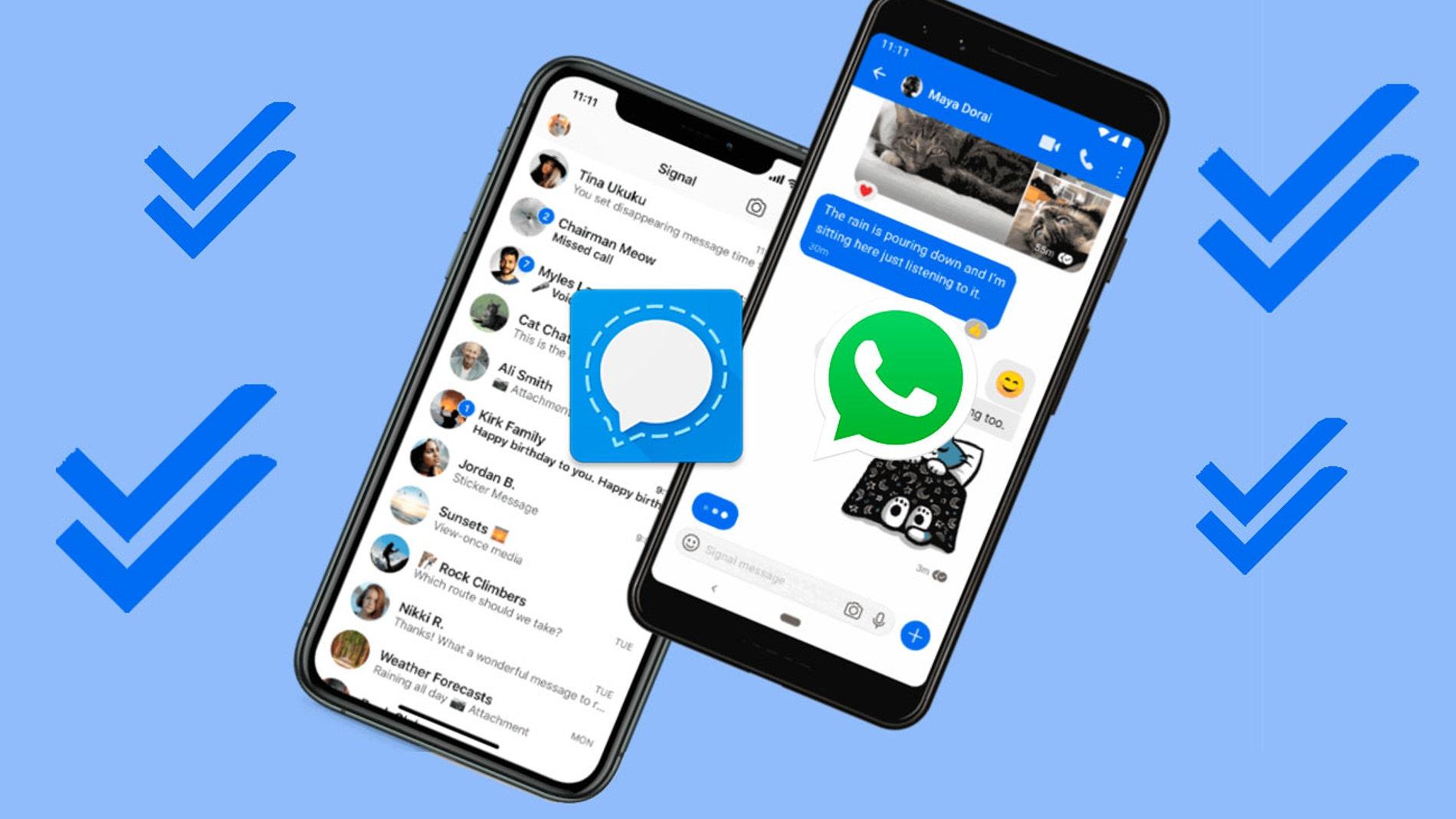 Signal y WhatsApp