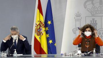 Los ministros de Interior y Hacienda