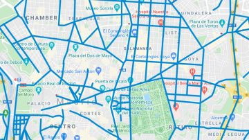 El mapa de las calles de Madrid que ya están limpias de nieve