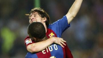 Samuel Eto'o y Leo Messi