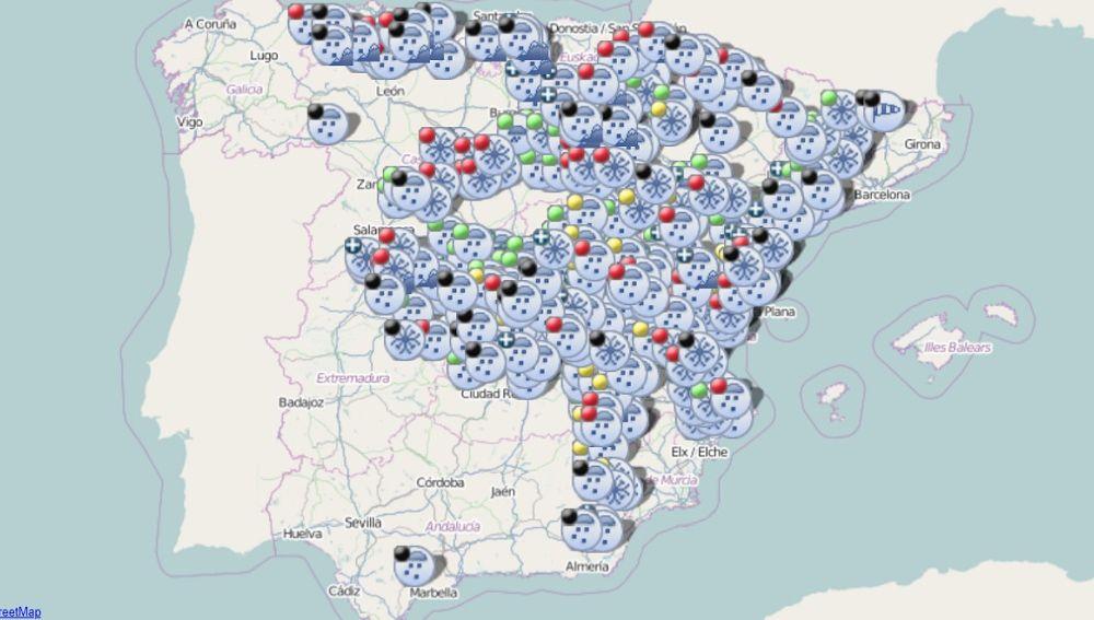 Mapa interactivo de la DGT