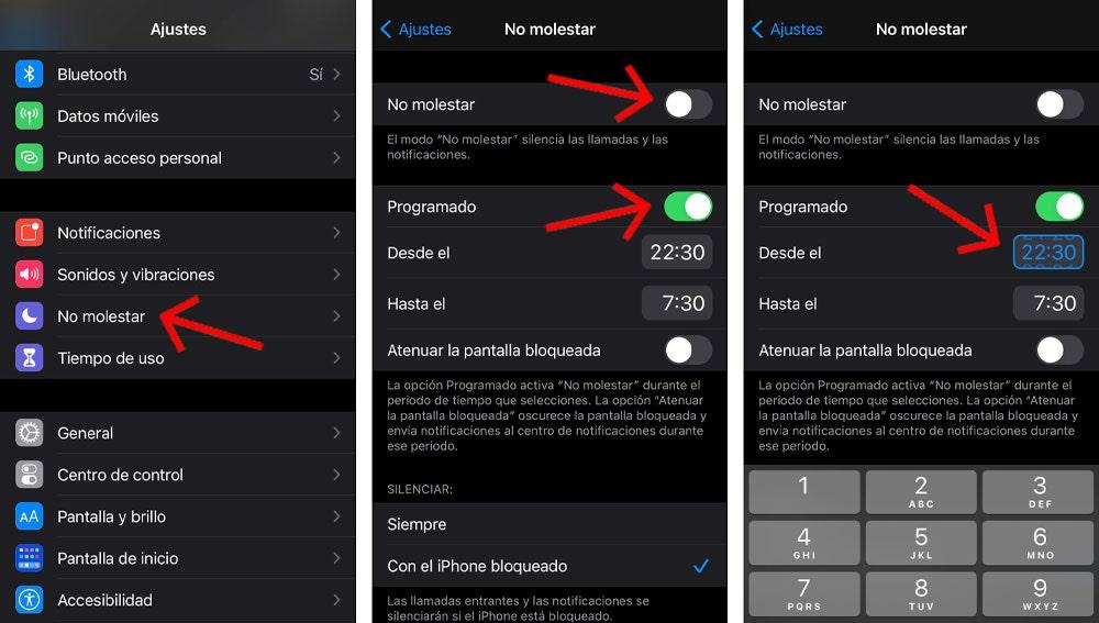 Programa el modo descanso de tu iPhone.