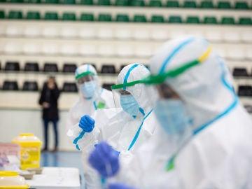 Cribado masivo de test de antígenos en Badajoz.