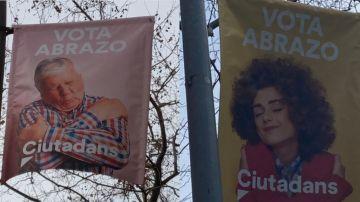 Elecciones catalanas 2021: Carteles electorales de Ciutadans en Cataluña
