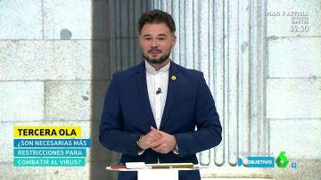 """Gabriel Rufián arremete contra el sistema fiscal: """"Amancio Ortega, Juan Roig y Ana Patricia Botín tributan lo mismo que un trabajador de la SEAT"""""""