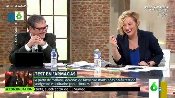 """La incómoda pregunta de Cristina Pardo a Marhuenda: """"Paco, ¿tú que eres más, de antígenos o de test anal?"""""""