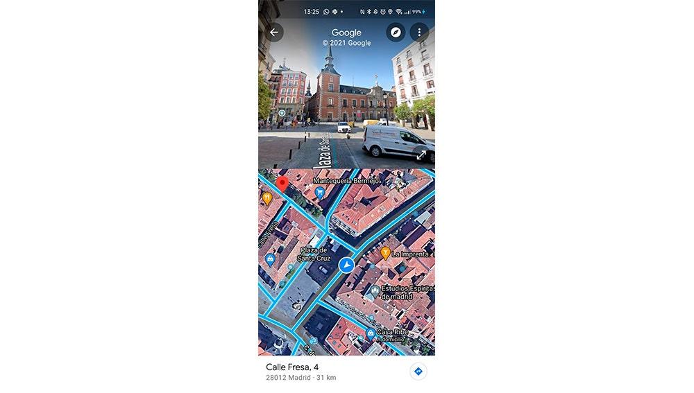 Nueva vista de Google Maps
