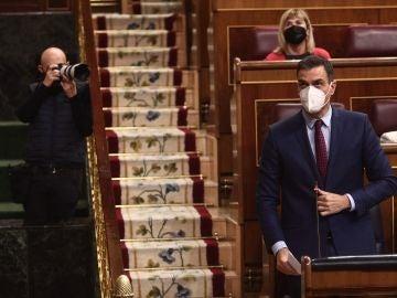 El presidente del Gobierno, Pedro Sánchez, durante una sesión de control al Gobierno, en Madrid en diciembre.