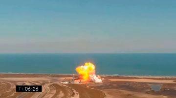 Momento de la explosión del cohete de SpaceX