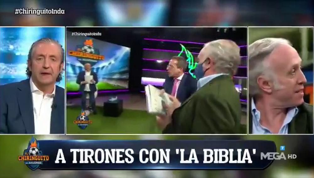 Inda le quita la 'Biblia' a Soria y Cristóbal abandona el plató