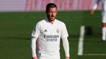 Eden Hazard, durante un partido con el Real Madrid.