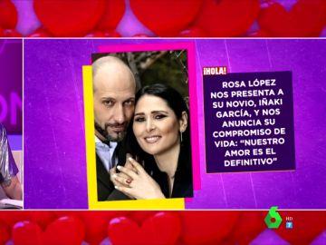 """Rosa López presenta a su pareja: """"Me pidió hacerse una foto y nos intercambiamos los números de teléfono"""""""