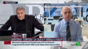 Eduardo Inda, con Antonio García Ferreras en Al Rojo Vivo
