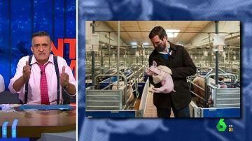 """El mensaje de Wyoming a Casado tras su foto viral en una granja porcina: """"Ya tiene suficiente porquería en su partido"""""""