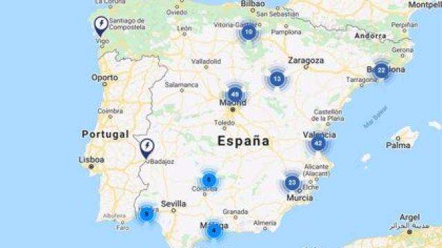 Mapa puntos recarga