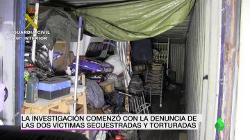Imagen del interior del contenedor de mercancías donde torturaron al matrimonio