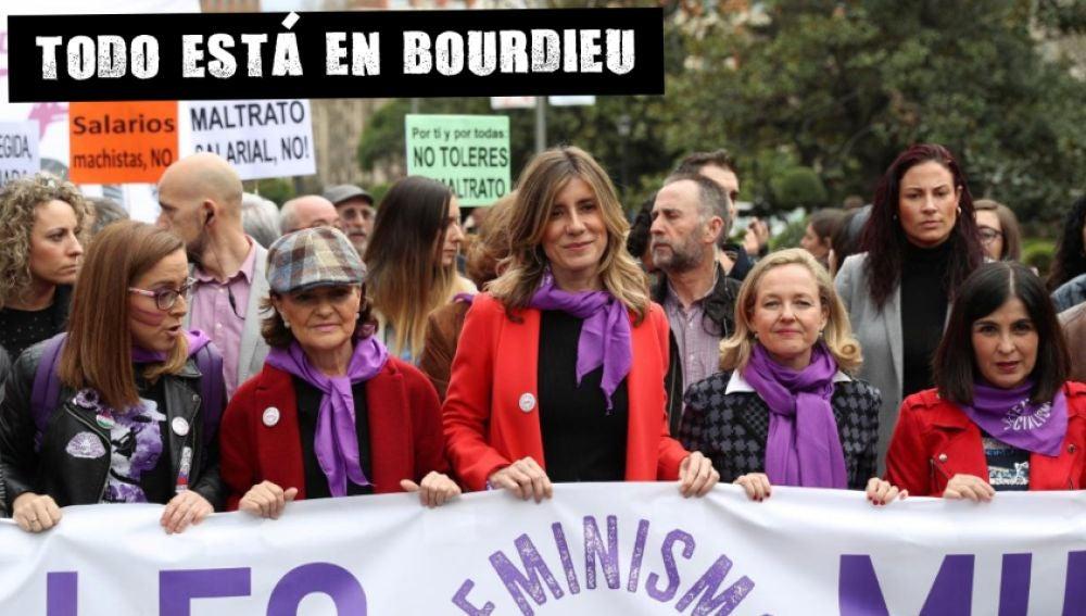 El PSOE, en la manifestación del 8M (Archivo)