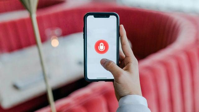 Notas de voz en un móvil