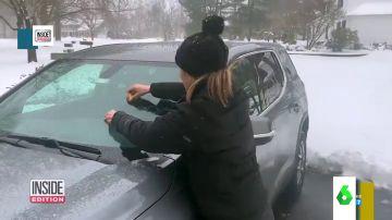 Nieve en el coche