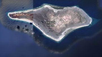 Isla Starbuck, en el Océano Pacífico