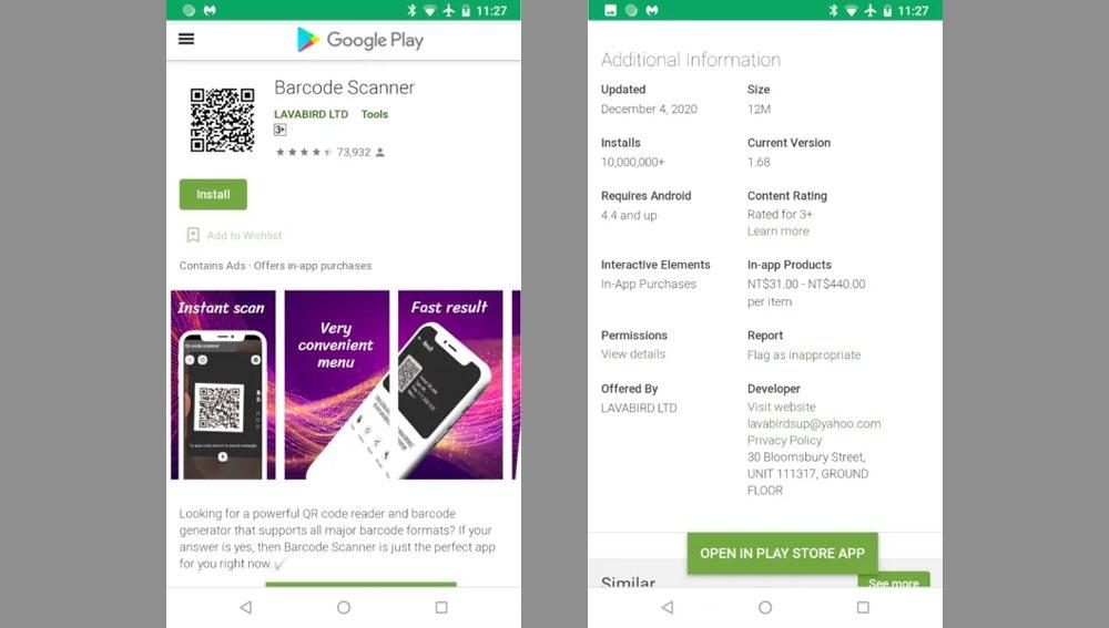 Aplicación con 'malware' detectada en la Play Store de Android.
