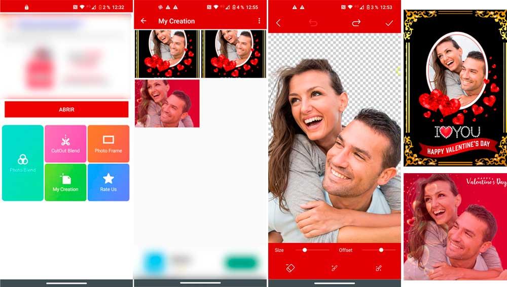 Decora tus fotos con marcos románticos
