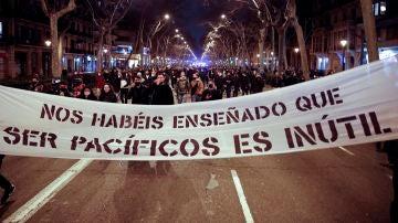 Manifestación por la libertad de Pablo Hasél en Barcelona